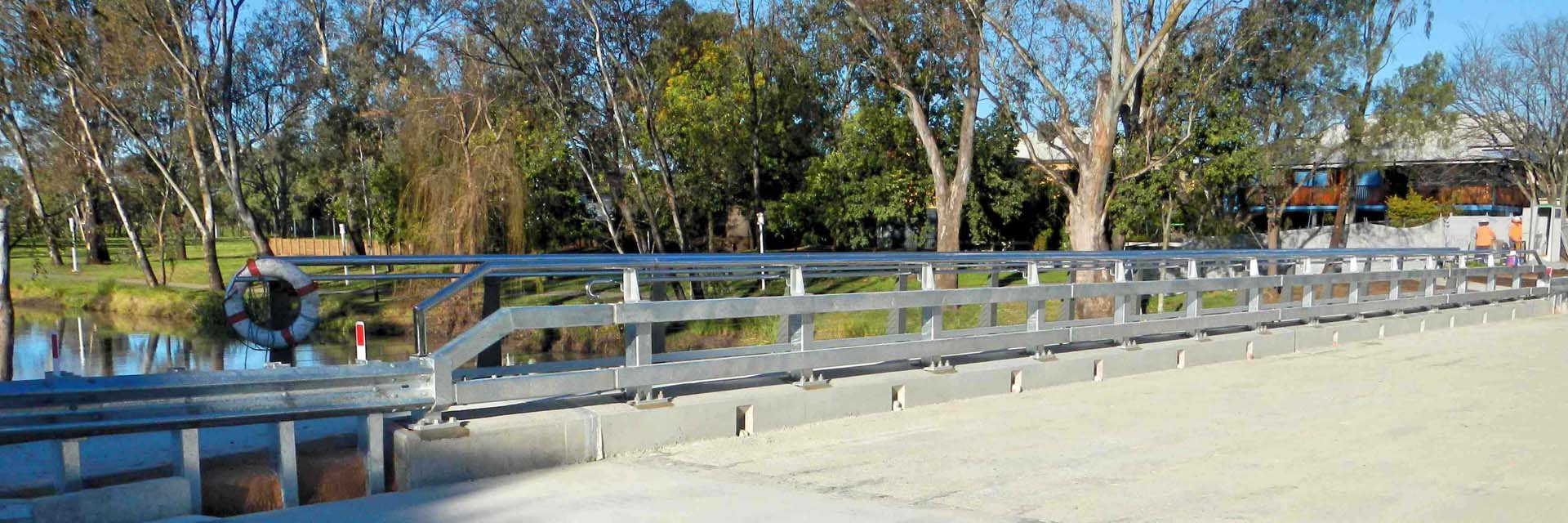 Traffic Barrier, Pedestrian Balustrade & Stainless steel Polished Handrail – Myall bridge, Dalby.