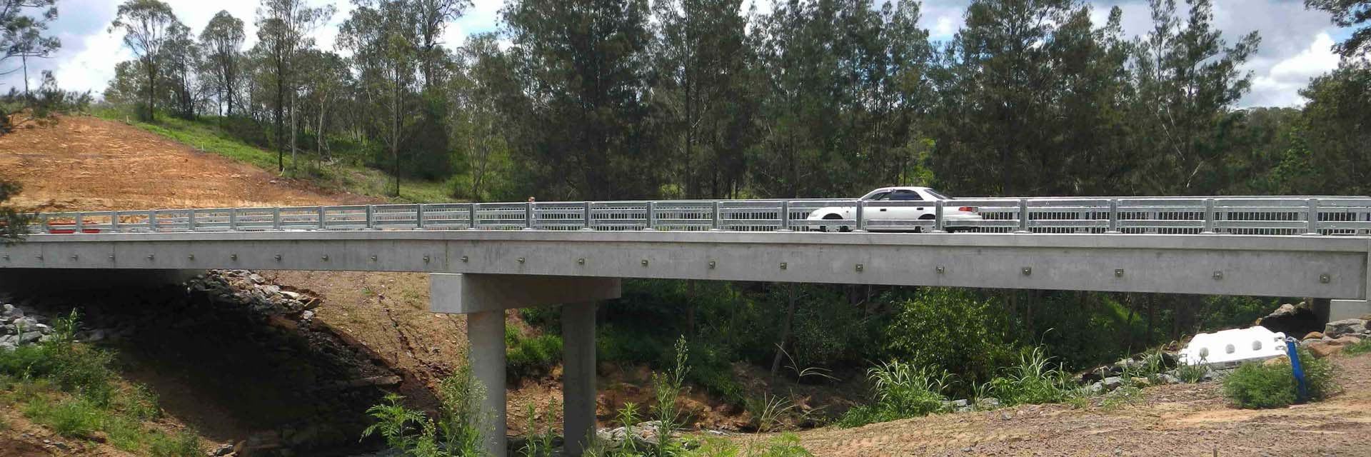 Steel Traffic Barrier & pedestrian Balustrade, Kooralbyn Bridge, Kooralbyn.