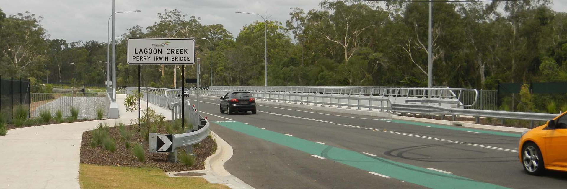 Steel Traffic barrier, Safety Rail & Balustrade - Perry Irwin Bridge, Caboolture.