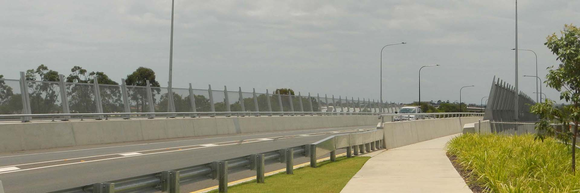 Steel Anti-Throw Screens, Bike Safety Rail, Lampstand Brackets – Plantation Rd Bridge, Dakabin.
