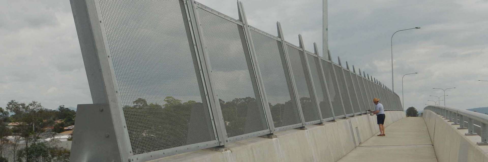 Steel Anti-Throw Screens, Bike Safety Rail, Lampstand Brackets, bearing Restraint angles & Plates – Plantation Rd Bridge, Dakabin.